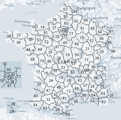 Tous les départements français